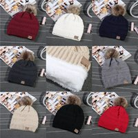 Skihut Billig Kaufen -Frauen CC Strickmützen Männer Outdoor Ski Caps Winter Warme Pelz Ball Beanie Trendy Hut Schädel Kappe Fabrik Billig Freies DHL 547