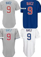 Wholesale Embroidered Short White Dress - 30 Teams 9 Javier Baez Chicago Baseball jerseys Customized embroidered Styles Shirt Sports Dress Gey White Blue Free Shipping