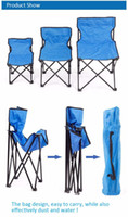 Wholesale Makeup Chairs - Wholesale-3 Colors Outdoor Furniture Camping Chair Makeup Beach Folding Chair Backpack Travel Folding Beach Chair