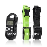 Wholesale Waterproof Tracking Dog Collars - Remote Wireless Rechargeable Waterproof LED Level 4 Shock Vibrant Vibration Pet Training Collar For One to Two Dogs order<$18no track