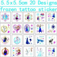 Wholesale Lip Stickers Wholesaler - 1200pcs 5.5x5.5cm ECO-FREINDLE FROZEN Spiderman Batman Sofia Princess Tattoo Sticker Temporary Tattoo Stickers DHL Free Shippign