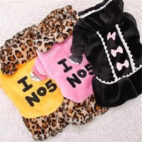 Wholesale 2015 New Winter Warm Pet Dog Princess Dress Leopard Bowknot Puppy Clothing