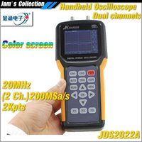 Wholesale Dual Channel Handheld Oscilloscope - JH JDS2022A TFT screen dual channel 20MHz 200MSa s handheld USB storage Oscilloscope hand hold 2 channel oscilloscope