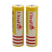 baterías de iones de litio gratis al por mayor-Ultra Fire 18650 3.7V 5000mAH Batería recargable de litio Amarillo, UltraFire BRC 18650 Li-Ion Envío Gratis