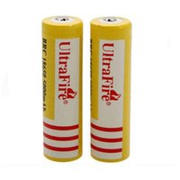 Wholesale lithium ion battery wholesale - Ultra Fire 18650 3.7V 5000mAH Lithium Rechargeable Battery Yellow,UltraFire BRC 18650 Li-Ion batteries Free Shipping