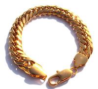 brazalete sólido de oro amarillo al por mayor-mejor compra joyería fina Gool hombres 8.6