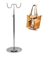 çantalar çantalar çantaları toptan satış-2 adet Yeni Promosyon İşlevli çanta ekran standı moda w-tipi kadın peruk vitrin ayarlanabilir çanta çanta şapka ipek eşarp Giyim