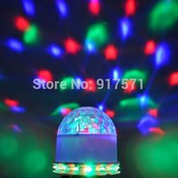 Digital Control Sound Control gros-Unique 15W DMX512 LED RGB Crystal Ball Effet magique de lumière DMX Disco DJ Stage Lighting