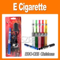 Wholesale Electronic Cigarette Christmas - EGO-T Battery CE5 Atomizer Christmas EGO Electronic Cigarette Blister Kit 650mah 900mah 1100mah Battery Electronic Cigarette kit 0209009