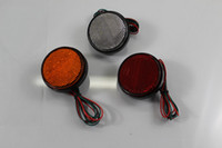 1 * Red LED Reflectors Round Brake Light Universal Motorcycle Car Truck
