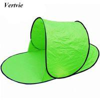москитные сетки на открытом воздухе оптовых-Wholesale- Vertvie 1-2 Person Outdoor Camping Tents Single Layer Camping Beach Tent Picnic Snap Windproof Anti-mosquito Automatic Open Tent