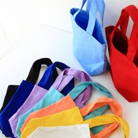 Wholesale handbags for ladies for sale - Canvas Handbag Portable Lunch Bags Lady Cosmetic Bag For Storage Articles Candy Color xx C Rkk