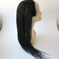 Wholesale wigs braids resale online - Synthetic braiding hair wigs Synthetic Lace Front Wigs inch Heat Resistant Hair Big Box Braids hair wigs
