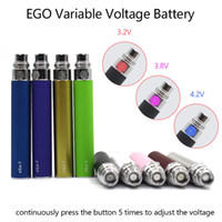 Wholesale Ego Cigarette Button - EGO-T Variable Voltage Battery Button Adjust Voltage for CE4 CE5 CE6 MT3 Vivi Nova protank Atomizer Electronic Cigarette (06h003)