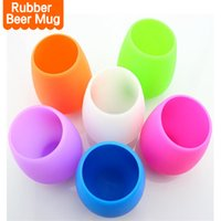Wholesale Camp China - Portable Silicone Rubber Wine Glass Cups FDA Food Grade Tumbler Beer Mug Unbreakable Cups for Drinking Outdoor BBQ Camping Wine Glasses