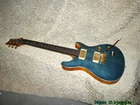 Wholesale Cheap Guitars China - Blue Flame Top Electric Guitar Anniversary High Quality China Guitars Best OEM Cheap