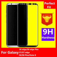 Wholesale Note Screen Protection - For Galaxy Note 8 S8 Plus S6 edge S7 edge 0.2mm 3D Full Screen Covered Tempered Glass Curved Side edge Protection