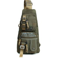 Wholesale Black Outdoor Backpack - Innturt Nylon Sling Bag Daypack Messenger Backpack Men's Women's Chest Bag Shoulder Bag Outdoor Hiking Bicycle Travel Bag