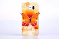 Wholesale S4 Case Hot New - Hot Selling New arrive High quanlity 3D Butterfly Fashion Cover Soft senior Cover TPU Case for Samsung Galaxy S4 S5 S6 NOTE3 NOTE4