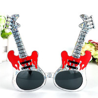 Creative Rock Guitar Occhiali per bambini Adulti Dress Up Decorazione Puntelli Cosplay Halloween Home Party Favore Forniture