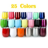 Wholesale Wholesale Beer Coolers - Stock in 25 Colors 9 Oz Egg Cups 304 Stainless Steel Travel Beer Mugs Keep Warm Cool