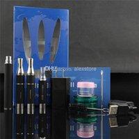 Wholesale Liquid Vaporizer Wholesale - Kingfish All in one vaporizer pen starter kit portable for dry herb wax e liquid herbal pen wholesale e cigs VS Titan 1 Vapor blunt 2.0 DHL
