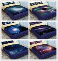 Wholesale outer space bedding - Wholesale-Universe galaxy nebula bedding bed linen set 4Pcs cotton twin queen king Outer space comforter duvet covers sheet pillow cases