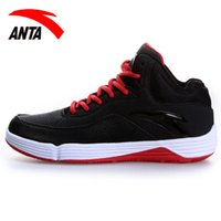 sports shoes anta - Anta Basketball Shoes Mens new autumn and winter high for non slip wear combat sports shoes cement killer