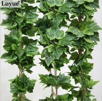 Wholesale Silk Grape Vine Garlands - Real artificial Plant Silk grape leaf scrapbooking garland faux rattan vine Ivy home decor wedding flower christmas gift FZH068