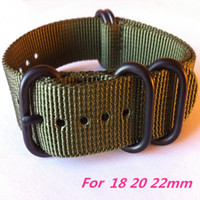 Wholesale Dhl Free Shipping Watch - New For Suunto Core 24MM Watchband Green Black Tactical Nylon Zulu 5-Rings PVD Strap Watch Band Free Shipping by DHL-112