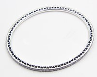Wholesale High quality Sterling Silver Twinkling Forever Bangle with Clear CZ Barrel Clasp for European Charms and Beads