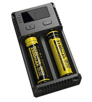 Wholesale Free Program - Free shipping Nitecore i2 Charger for vape 18650 20700 batteries charging program optimized for IMR batteries