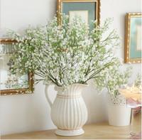 bebek evi dekoru toptan satış-Yapay bebeğin Nefes Sahte Ipek Çiçek Ev Düğün Bahçe Dekor babysbreath Vintage Yapay Çiçekler Gypsophila Şenlikli