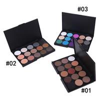 ingrosso le ombre di occhio delle signore-Professionale Lady Women 15 colori trucco ombretto mimetico viso correttore tavolozza ombretto 3 colori