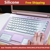 Wholesale Acer Silicone Keyboard Cover - Wholesale-Silicone transparent laptop Keyboard cover skin protector for acer eMachines D640,D642,D728,D730,D732Z,Timeline 4820TG