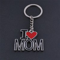 Wholesale mother key for sale - Group buy Free DHL Hot Sale Creative Keychain I Love DAD MOM MAMA Letter Key Ring Mother Father Love Heart Key Chain Keyrings Christmas Gifts D275L A