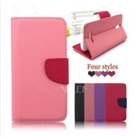 Wholesale Cover For Alcatel - for Alcatel One Touch Pop C1 C2 C3 C5 C7 C9 6016 OT5020 7040T 7024 Dual Color Wallet PU Flip Leather Case Cover With Card Slots (A0336)