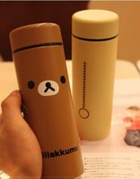 Wholesale Adults Steels - valentine item japanese stainless steel animal print novelty couple lovers adult water bottle rilakkuma cups gift for birthday