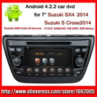Wholesale 2014 Suzuki SX4 car dvd player with GPS S Cross PC Radio Bluetooth TV G WIFI Android din inch mp3 mp4 player USB SD