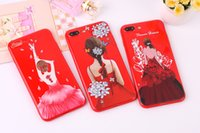 Moda Modern Lady back Girl Soft TPU Frosted Phone Case para iphone X 7 6s 8 8Plus Cases Cover para Samsung B820