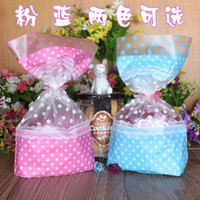 Wholesale gift wrapping plastic - Christmas Color Candy Dessert Bag Cookie Packaging Plastic Bags size Assorted Gift Wrap Party Decoration SD844