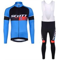 Wholesale Scott Pants - Scott 2017 Pro team cycling jersey Maillot ciclismo cycling clothing ropa ciclismo long sleeve bike clothing Bib Long Pants Set K1402