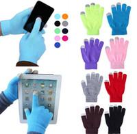 çoklu ekranlı telefon toptan satış-Sıcak Kış Çok Amaçlı Unisex dokunmatik Ekran Eldiven Noel Hediyesi iPhone iPad Akıllı Telefon Için Tam Parmak Eldivenler KKA3272