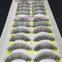 Lashes gros-2015 New Hot Vente 10 Paire long et épais faux cils Cils Maquillage des yeux volumineux rabais promotionnels Dropship # 016