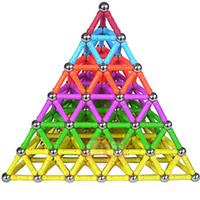 trenes magnéticos de juguete al por mayor-1 juego de bloques de construcción magnéticos para bebés, niños, niños, imanes, entrenamiento para niños, diseñador de bricolaje, juguetes educativos