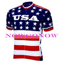 Wholesale Men Clothes Usa - 2016 cycling jersey USA United States America team bike clothing wear riding MTB road ropa ciclismo NOWGONOW bicyce full zip Polyester HOT