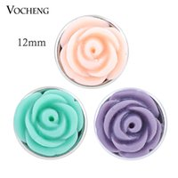Wholesale Small Flower Hook - VOCHENG Noosa Small 12mm Flower Button Interchangeable Jewelry Ginger Snap Jewelry (Vn-510)