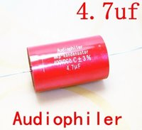 Wholesale Capacitor For Amplifier - Wholesale-ST 5pcs lot 400V 4.7uF MKP axial non-polar coupling film capacitors audio capacitors for amplifier frequency divider amplifier