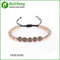Wholesale 8mm cz bracelet - BC Jewelry Anil Arjandas Fit Men K Gold mm Round Beads mm Micro Pave Black CZ Beads Briading l stainless steel bracelet B