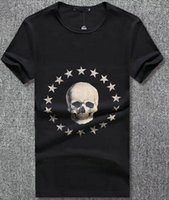 Valore Acquista Full Stars T-Shirt Uomo Fashion Brand Tshirt Stampa Teschio O-Collo Estate T-shirt Top Tees Nero 3XL